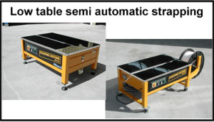 Strapping Systems low table semi automatic strapping